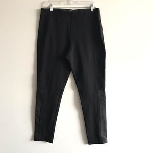 COS Stretch Skinny Pant with Leather Detail